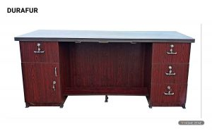 Durafur Office Executive Table with Multi Storage Space Size 6 Feets