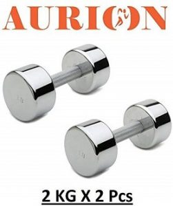 Aurion Chrome Dumbbell with Soft Padded Cushion Handles