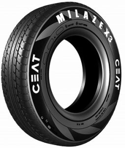 Ceat Milaze X3 145/80 R12 74T Tubeless Car Tyre
