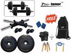 Protoner 10 kg Adjustable Dumbbells