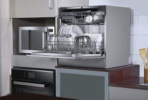Voltas Beko 8 Place Table Top Dishwasher (DT8S, Silver)