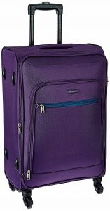 Aristocrat Nile Polyester 66 cms Purple Suitcase