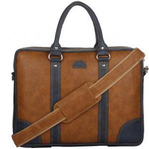 K London Leatherite Laptop Messenger Bag