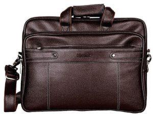 Medlar Leather Laptop Messenger Briefcase Bag