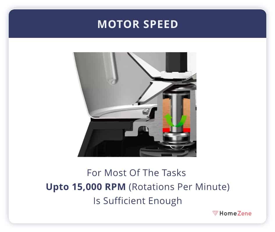Mixer Grinder Motor Speed