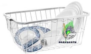 Parasnath Heavy Stainless Steel Medium Dish Drainer