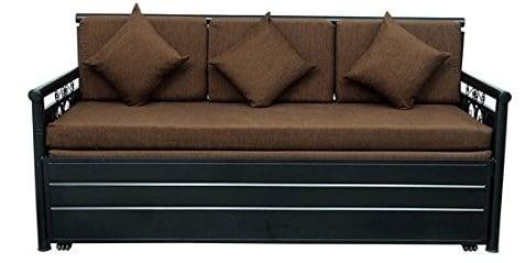 Royal Interiors Metal Single Size Sofa Cum Bed