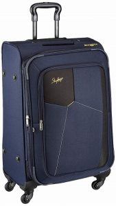 Skybags Rubik Polyester 68 Cms Blue Softsided Check-in Luggage