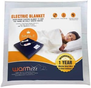 Warmzzz Wool Electric Blanket