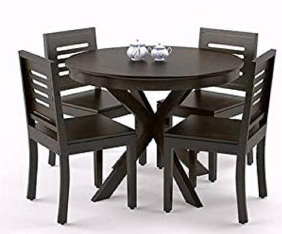 Woodstage Round Dining Table Set
