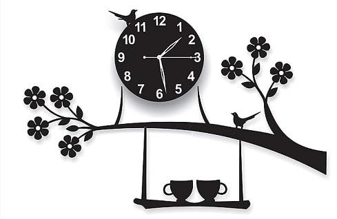 invision1 3D Acrylic Wall Clock