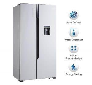 Amazon Basics 565L Side By Side Door Refrigerator