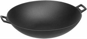 AmazonBasics Cast Iron Wok Pan