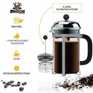 Bison International Stainless Steel Press Coffee MAKER