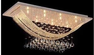 Crysta World Crystal Glass Ceiling Lamp