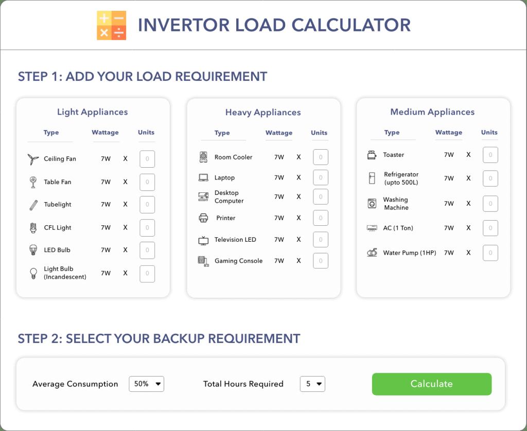 Inverter Load Calculator