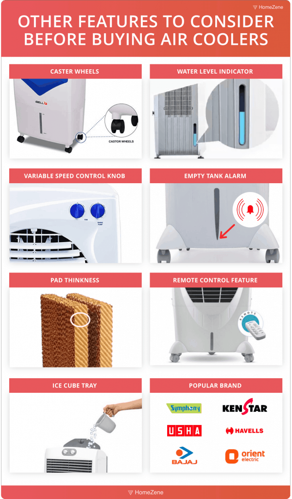 Aircooler other features