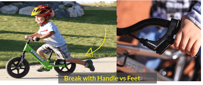 Break with Handle vs Feet