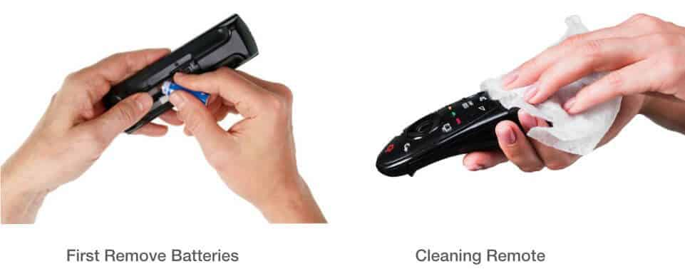 Cleaning your TV remote