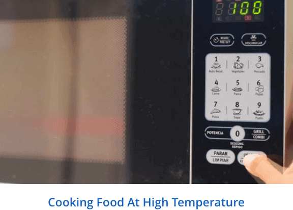 Cooking food at high temperature