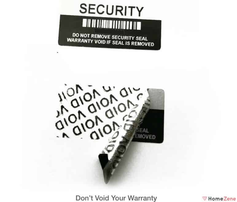 Don't void your warranty
