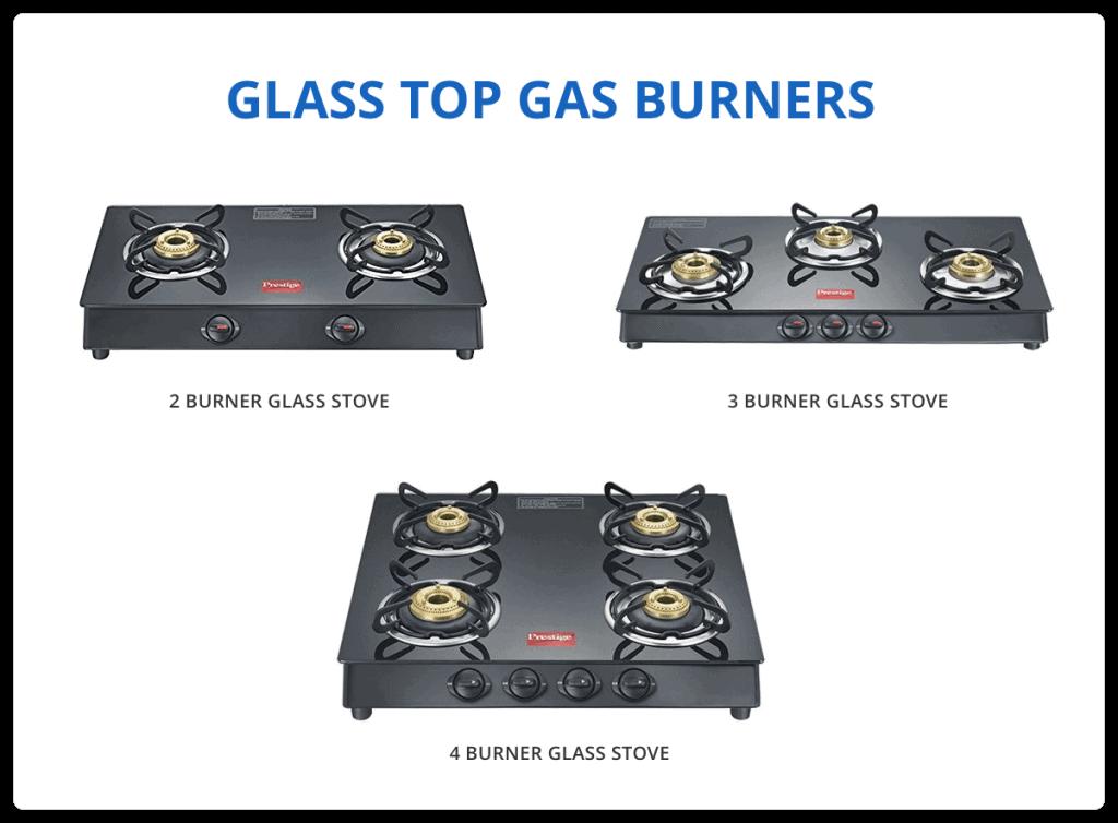 Glass Top Gas Burners