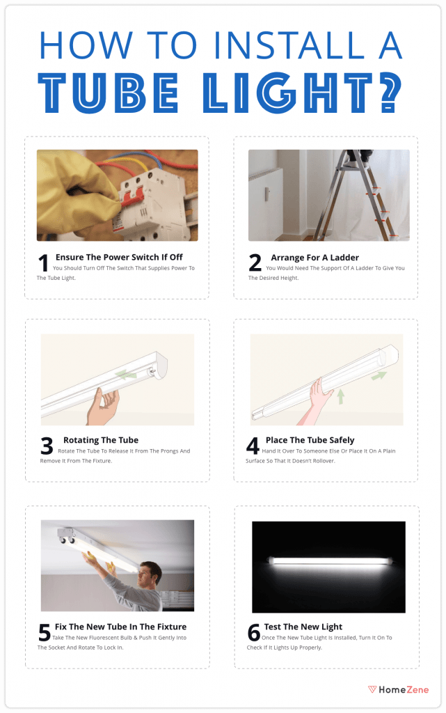 How to install tube light