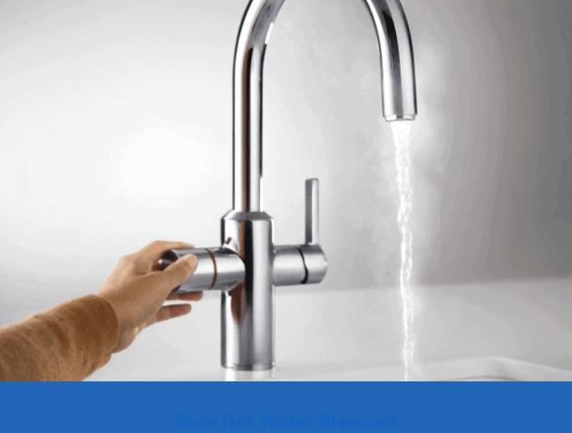 Poor hot water pressure