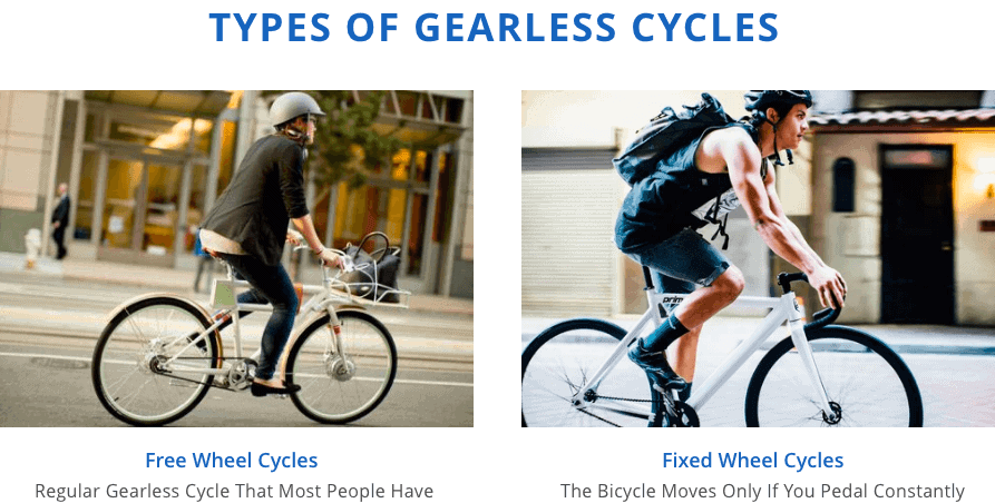 Types of Gearless Cycles Image