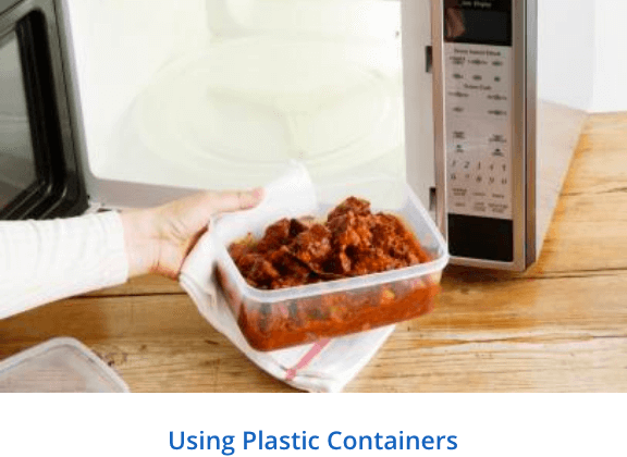 Using plastic containers