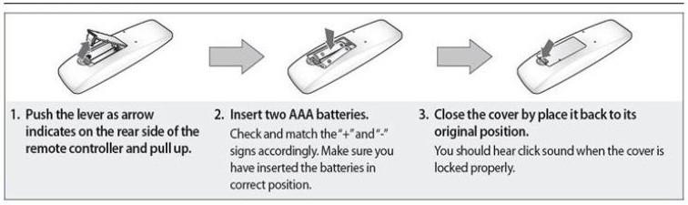 inserting batteries