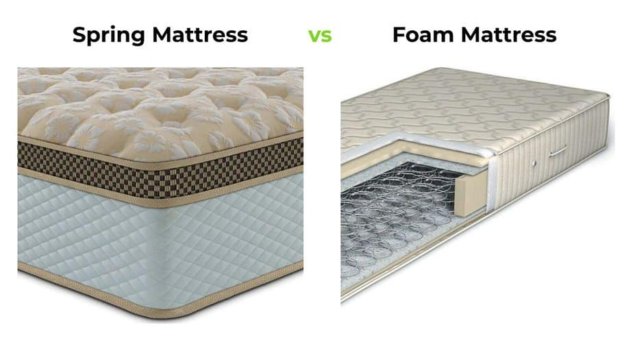 spring mattres vs foam mattress