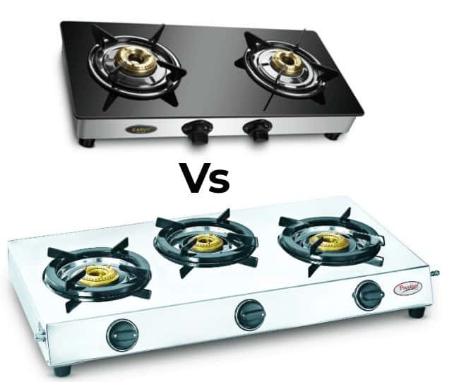 Glass Top Gas Stove vs Stainless Steel Stove