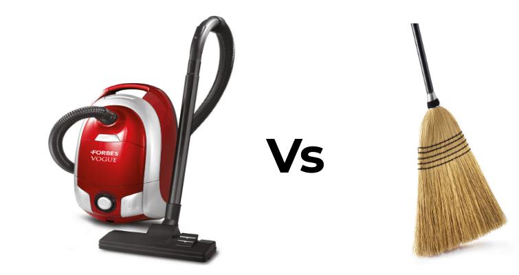 Vacuum Cleaner vs Broom