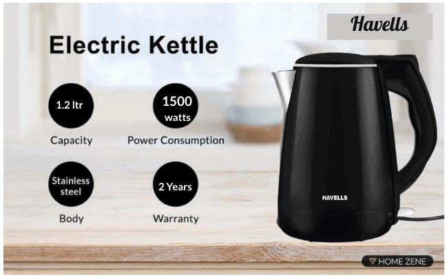 Havells Aqua Plus 1.2 litre Kettle