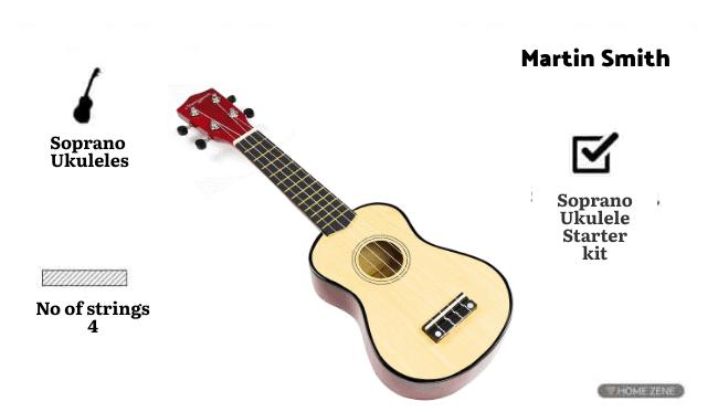 Martin Smith UK-212 Ultimate Soprano Ukulele Starter Kit
