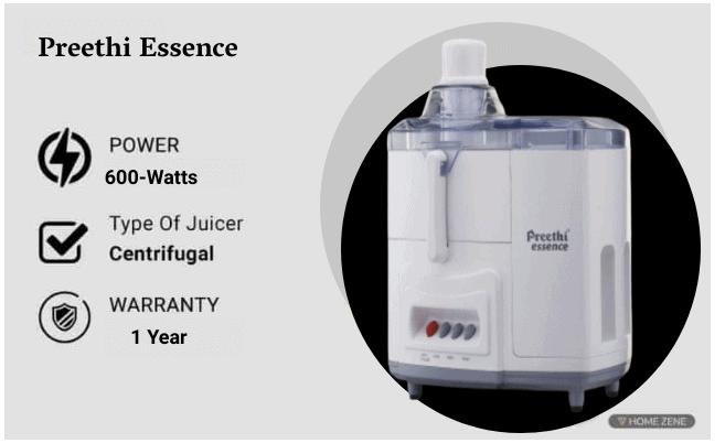 Preethi Essence CJ 101 600-Watt Juicer